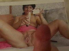 MILF with Spread Pussy Cum Tribute