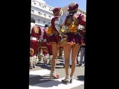 Street dancers upskirts pantyhose