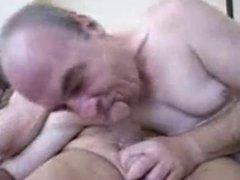 two daddies on webcam