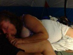 Linda Sucks in tent