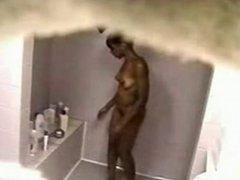 Hot Black Teen Taking A Shower - Hidden