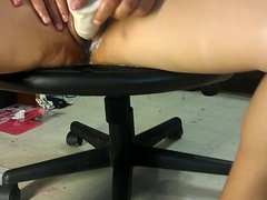 Wife's creamy pussy and squirting