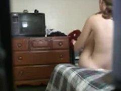 Girl in her room