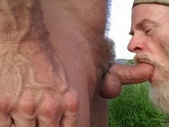 Sucking Bear Cock Outdoors 2