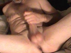 strokin my big white cock