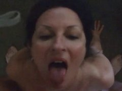 amateur receives a facial and loves it