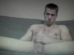 straight lad shows off his 10inch cock