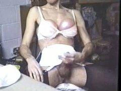 1994 black leotard white girdle