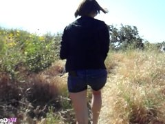 Naked outdoor hiking with Lexi and Alyssa