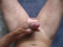 Masturbation Messy Cumshot Overhead View