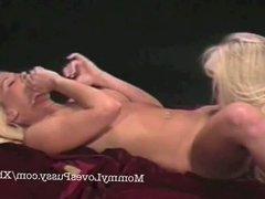 Sexy blonde MIlF lesbians