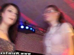 Dancing amateur party sluts