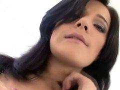 Amazing brunette has anal sex