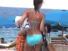 Juicy Booty Blue Bikini Miami Beach