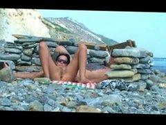 beach couple for voyeur