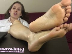 Lelu Love-Secretary Soles Foot Fetish JOE
