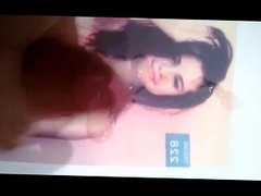 Selena Gomez get's a cum tribute