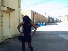 Aurianna's Sexy Stroll: Little Black Dress Short Version