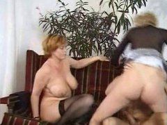 HOT MOM  158 redhead mature milf and teen with a young man