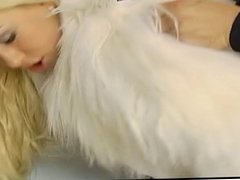 Hot blonde with footscene