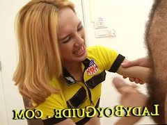 Yellow Haired Asian Ladyboy Russia