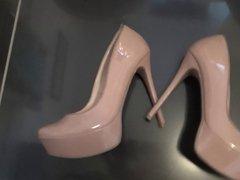 Cumshot On GF's Nude Heels