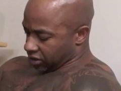 Threesome interracial bareback fucking