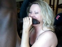 Sucking bbc for Hubby