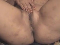 clean shaven juicy arab hijab wife playing with her pussy