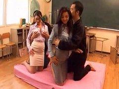 Euro Sluts teach Japanese about Foursome ctoan
