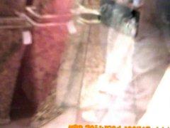 Hidden cam films visible thong