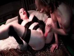 English Mistress Morgan big toy play