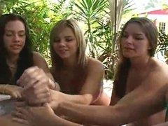 4 Girls Milk Cock