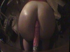 Playing wiht my big pink dildo 1
