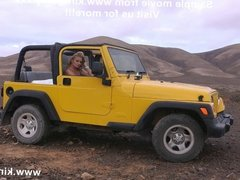 Self anal fisting on the Jeep KINKYNIKY