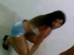 Two Brazilian girls dancing funk of shorts