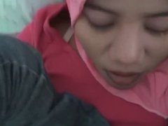 Hijab amateur blowjob and fuck