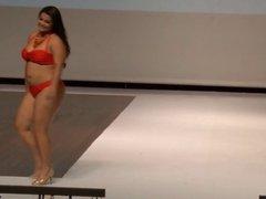 Plus size swimsuit models