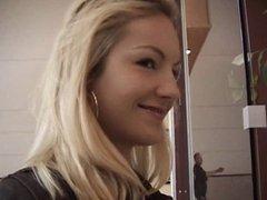 Czech Blonde Gets Gangbanged