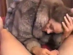 Amature Milf In Fur Teases & Sucks Cock
