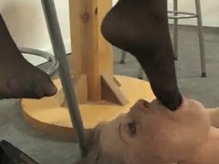 lesbian mistress nylon feet worshiped