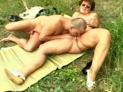 Granny - outdoors