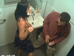 Secret Blowjob In The Toilet Caught Live On CCTV