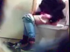 Blonde bitch toilet hidden cam voyeur