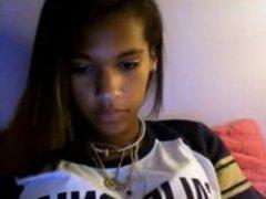 hot black teen on cam