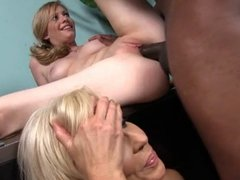 Hot mature mom and not her daughter sharing BBC