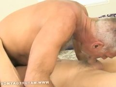 Sexy silverdaddies sucking, rimming and fucking