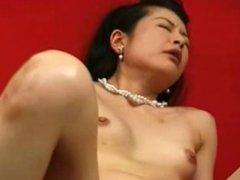 Mature japanese masturbated with dildo