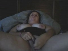 BBW gets off on her bed