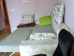 Home sex on hidden cam Russian couple